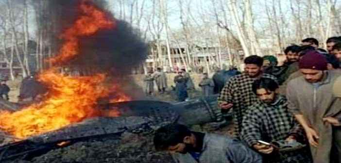 কাশ্মীরে ভারতীয় যুদ্ধবিমান বিধ্বস্ত